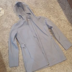 Size sm (4-6) soft shell gray jacket